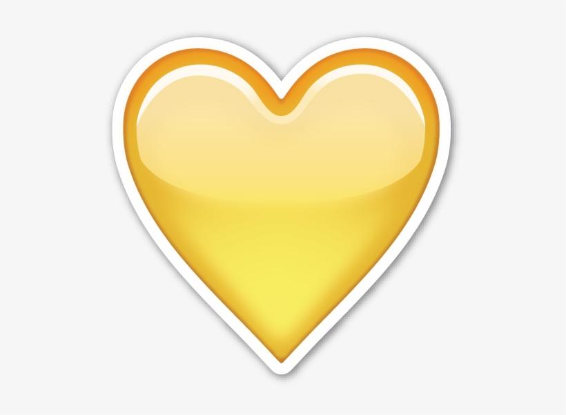 Yellow Heart - Emoji De Corazon Amarillo, transparent png #1349029