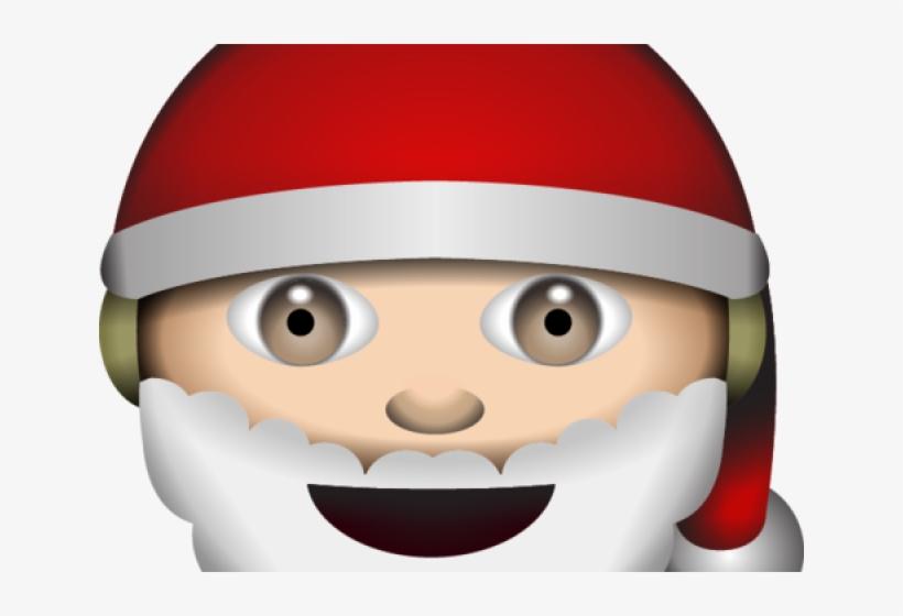 Santa Clipart Emoji Emoji Papa Noel Free Transparent Png Download Pngkey