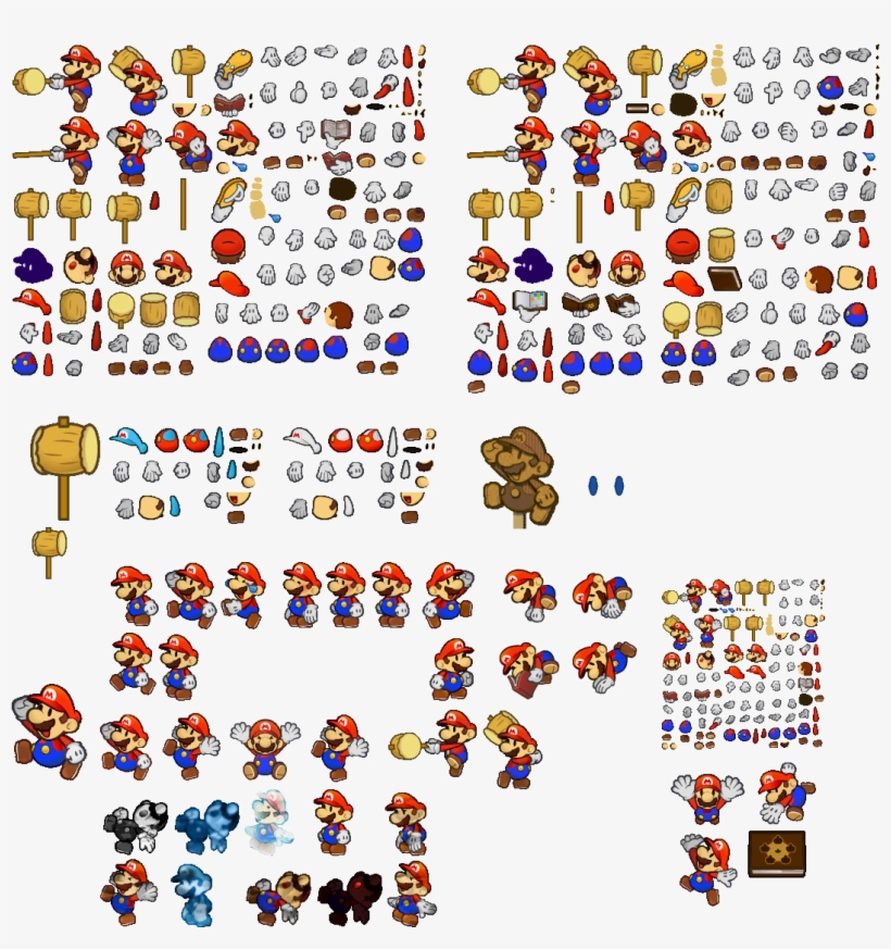 Click For Full Sized Image Mario - Paper Mario Mario Sprites, transparent png #1349383