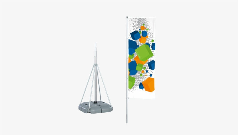 Telescopic Flagpole With Water Base - Custom Banner Flag W/ Telescoping Pole And Stand, transparent png #1350060