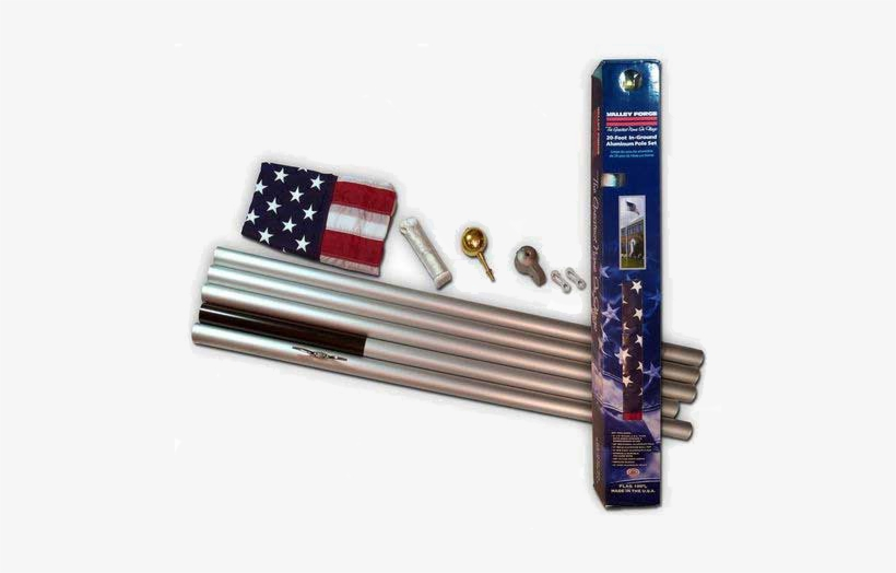 20 Ft Sectional Flagpole Kit - American Flag Pole Kit 20 Foot, transparent png #1350199