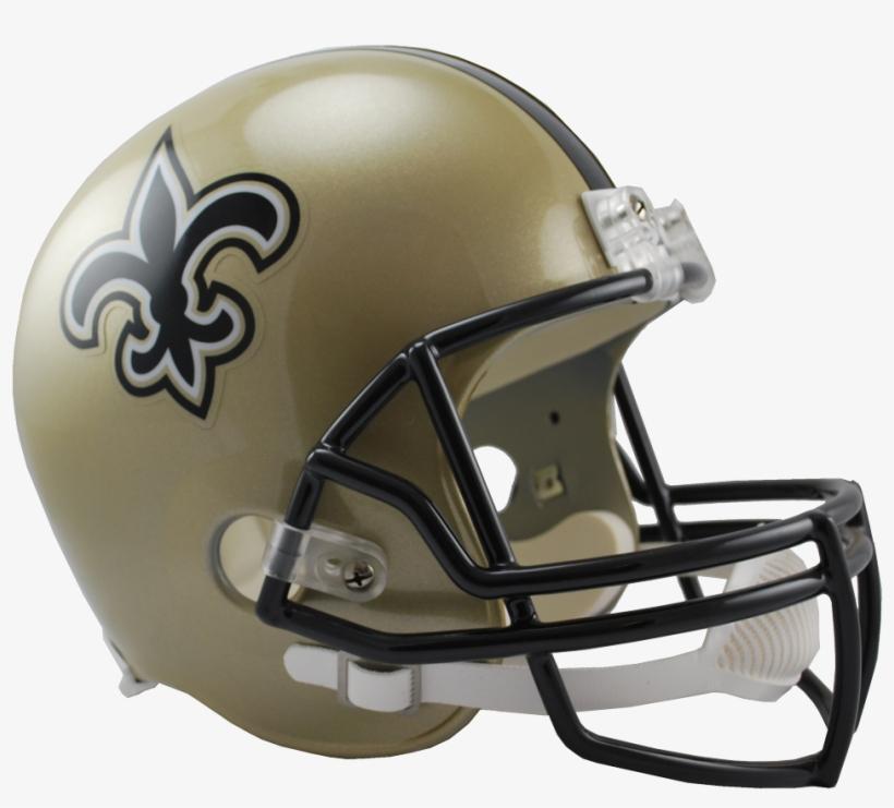 New Orleans Saints Vsr4 Replica Helmet - New Orleans Saints Full Size Replica Football Helmet, transparent png #1350786