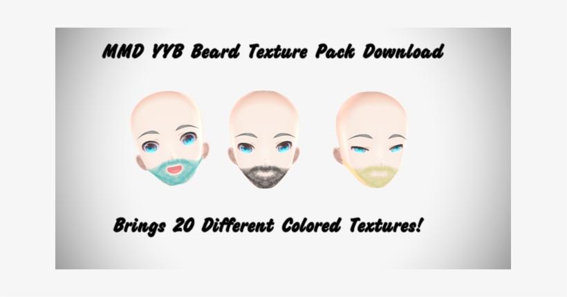 Drawing Beard Skin Texture Png Library Stock - Mmd Tda Beard - Free