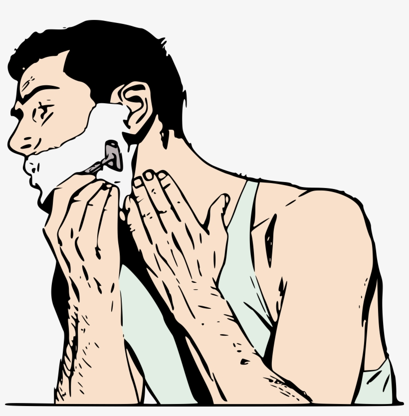 Image result for shaving clipart men