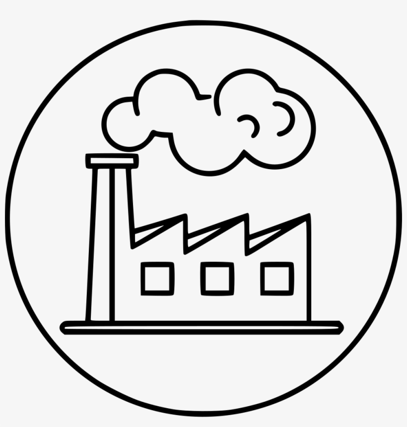Factory Industry Polution Smoke Comments - Factory Images For Drawing, transparent png #1352763