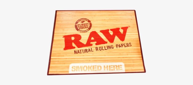 Raw Bamboo Door Mat - Raw Rolling Paper Mat, transparent png #1352918