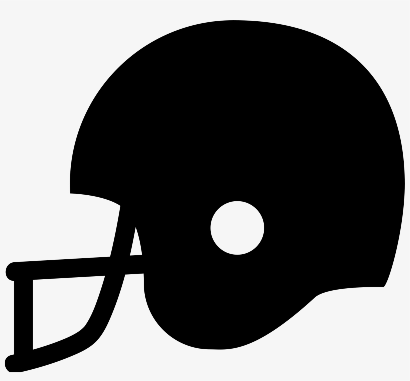 Football Svg Black And White Clip Art Black Football Helmet Free Transparent Png Download Pngkey
