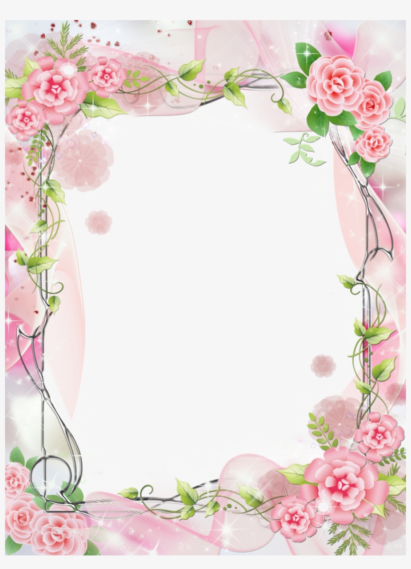 Romantic Frame Png Clipart Picture Frames Garden Roses - Cute Photo Frame Png, transparent png #1356536