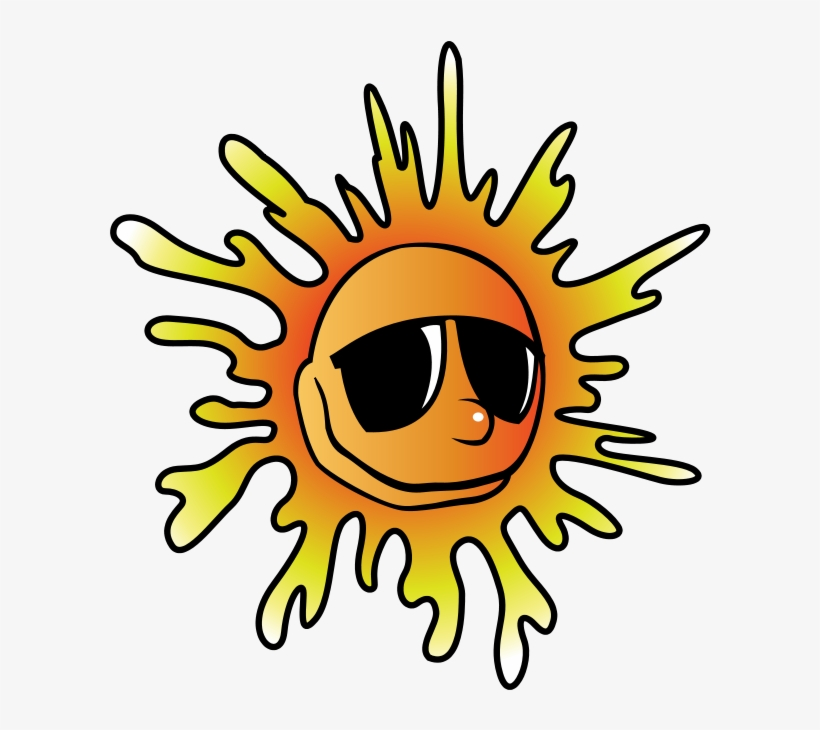 Summer Clip Art Border - Sun With Glasses Png, transparent png #1357659