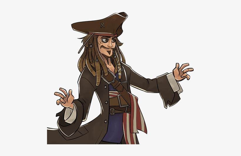 """Dialogue Jack Sparrow """" - Disney Heroes Battle Mode All Characters, transparent png #1360253"""
