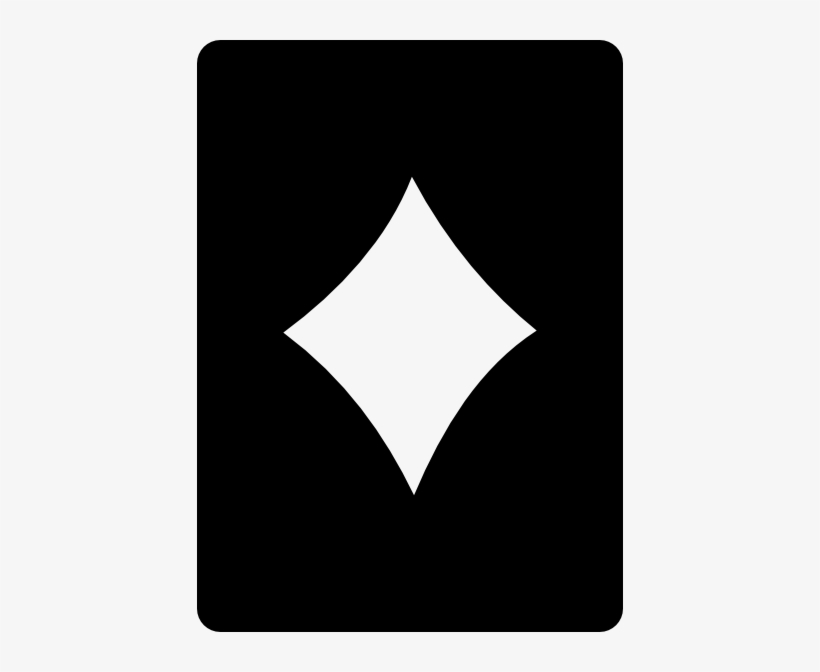 Diamond Card Png - Card Diamonds Symbol White, transparent png #1361217