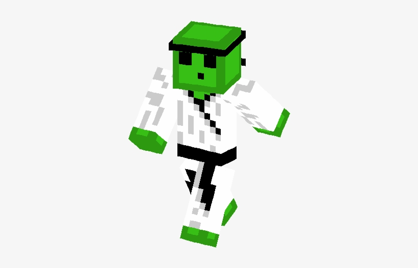 Slime Karateca Skin - Minecraft Slime Skin Png - Free ...