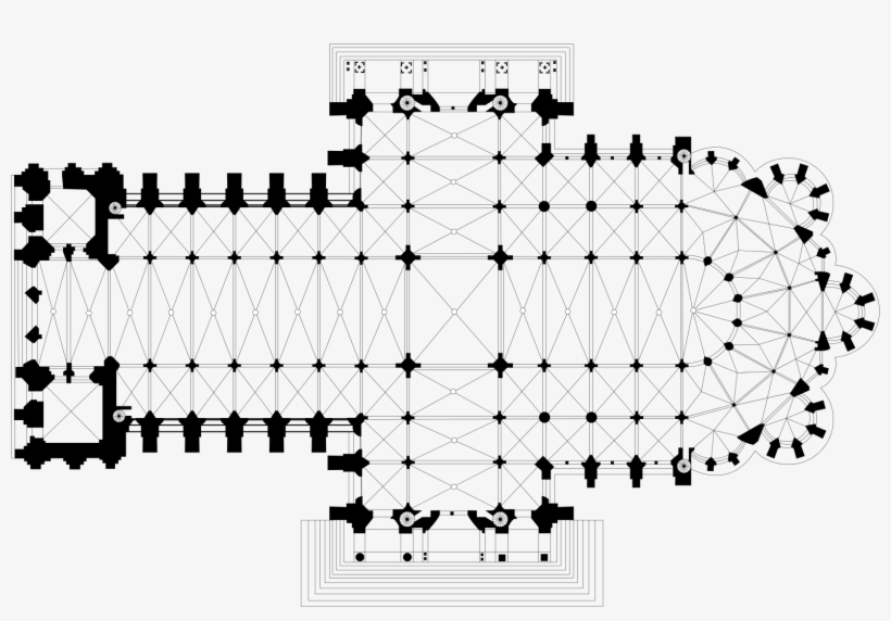 Notre Dame Cathedral Chartres Floor Plan Free Transparent Png Download Pngkey