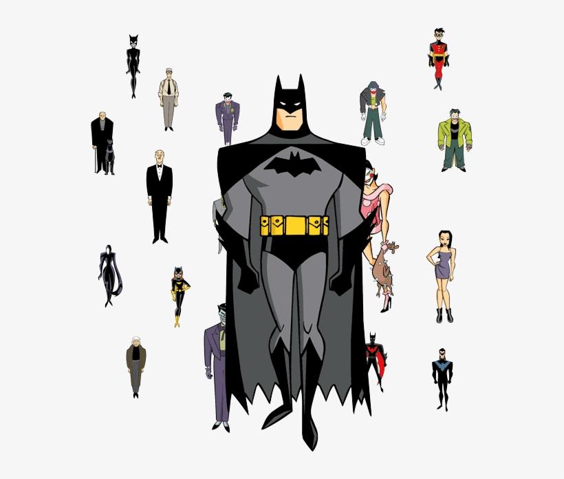 Batman Cartoon Characters - Batman (life Size Stand Up), transparent png #1362515