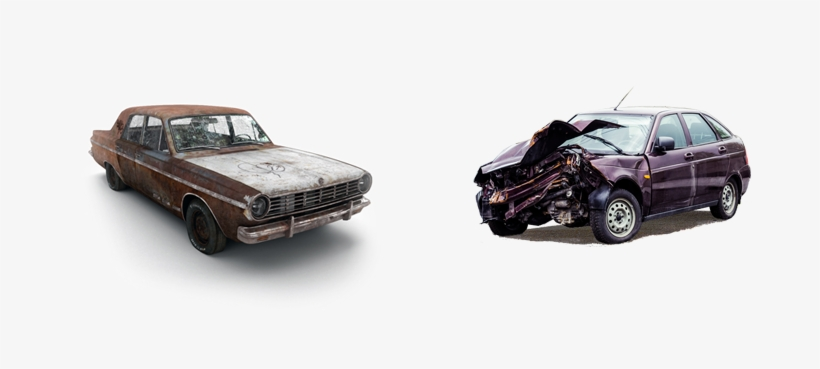 Any Condition, Any Time - Pile Of Rusted Junk Car, transparent png #1364906