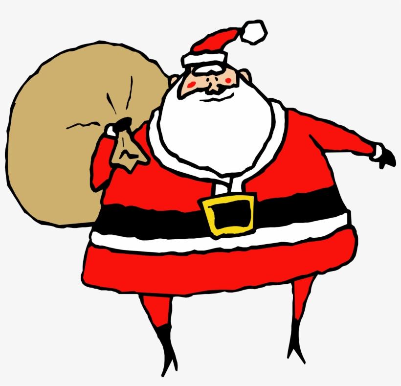 6303be5495645 Bag Clipart Santa Claus - Christmas Clip Art Santa - Free ...