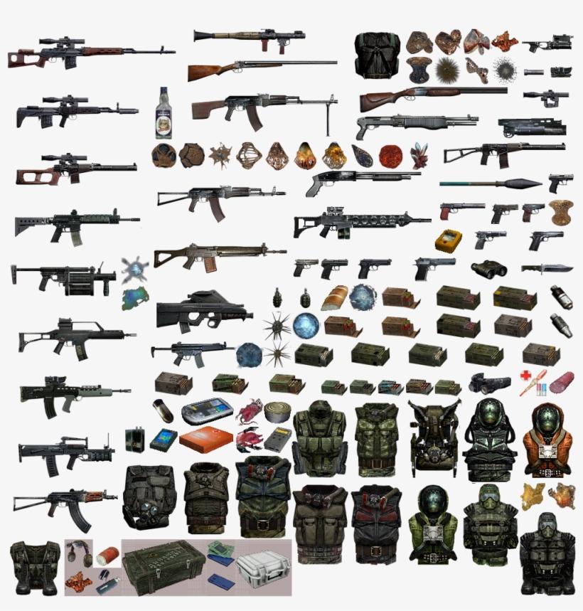 Картинки сталкеров оружие и бронь
