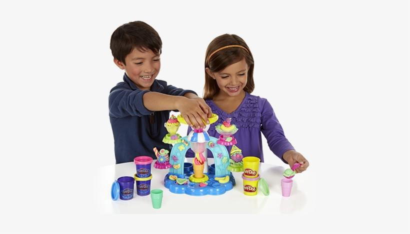 Playdoh Swirl And Scoop Ice Cream Playset - Play Doh - Sweet Shoppe Swirl N Scoop Ice Cream, transparent png #1366697