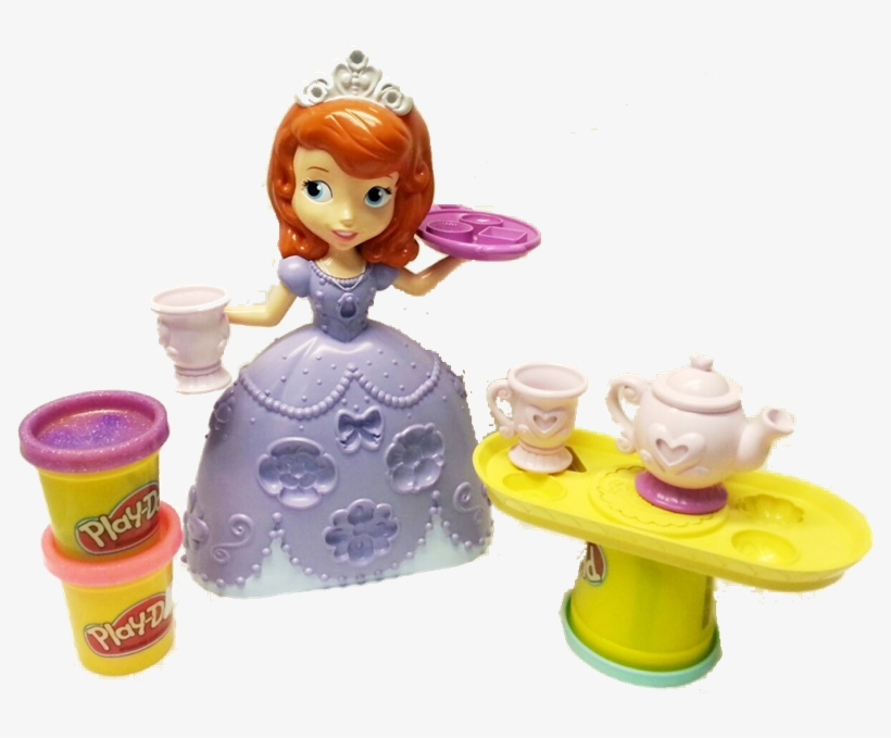 Disney Junior Sofia The First Tea Time Playset By Play-doh - Sofia The First Play Doh, transparent png #1366727