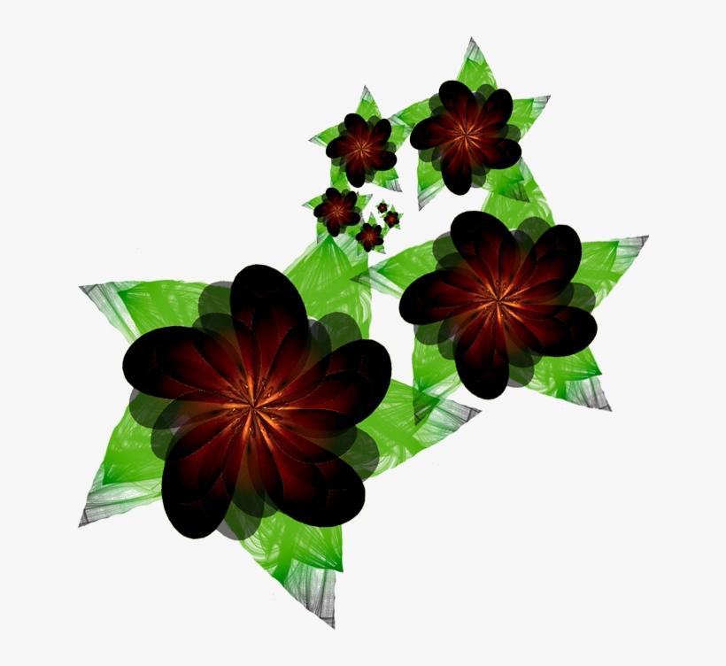 Fractal Manip Stock Flower - Flower Dark Png, transparent png #1368650