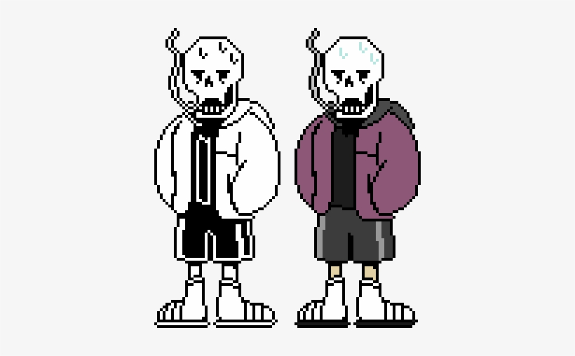 Swapfell Papyrus By - Underfell Sans Colored Sprite - Free