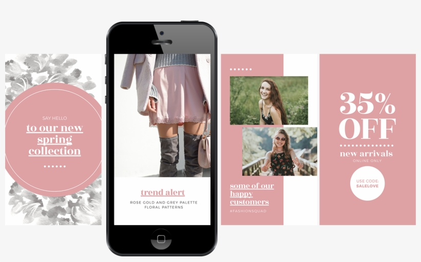 Free Instagram Stories Templates For Your Retail Store - Instagram Stories Swipe Up Template, transparent png #1371617