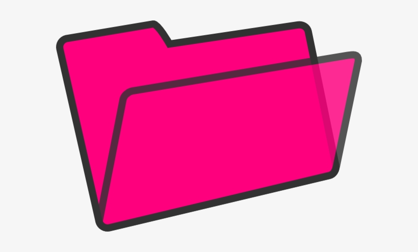 Jpg Royalty Free Library Clip Art At Clker Com Vector - Hot Pink Folder Icon, transparent png #1372023