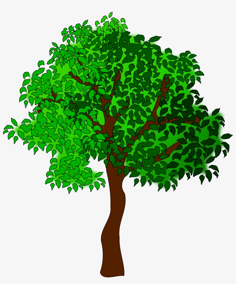 Clipart Tree Big Image - Summer Tree Clipart, transparent png #1373212