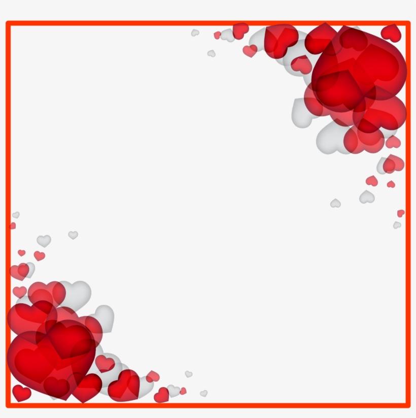 Valentine S Day Heart - Love Border Frame Png, transparent png #1374431