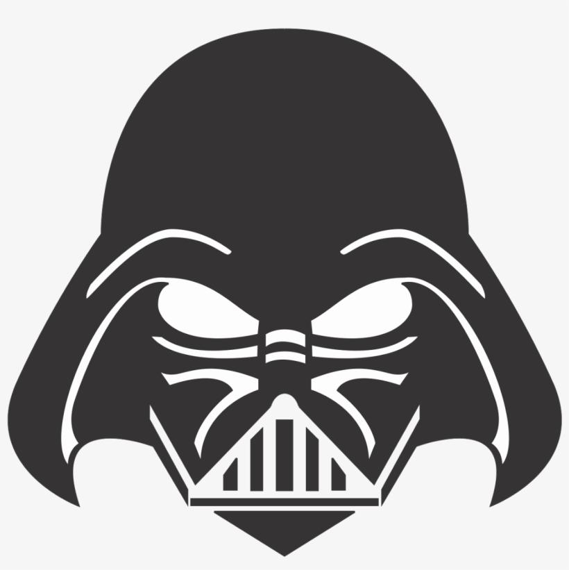 Darth Vader Face Png Clipart Transparent Stock - Darth Vader Head Silhouette, transparent png #1375118