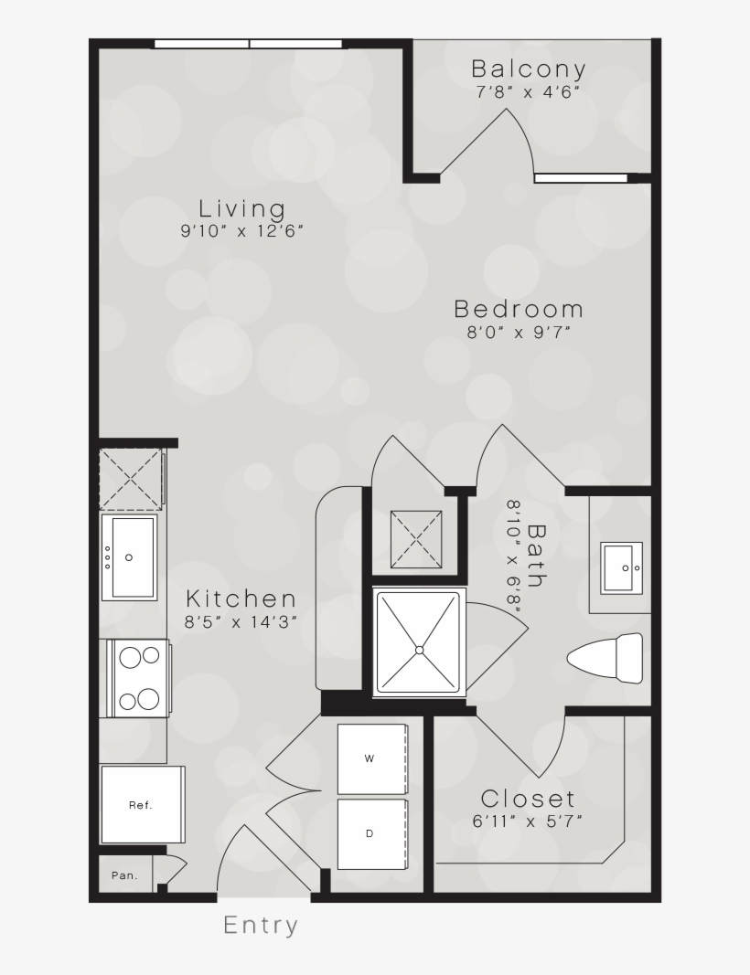 A1a Floor Plan - City Lights Floor Plan, transparent png #1375462