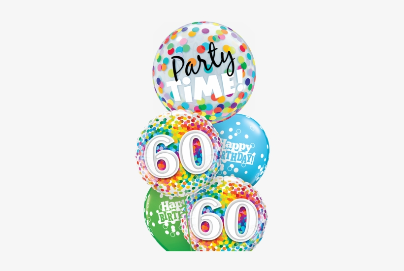 Cheerful Bubble Balloon Bouquet - 18 Birthday Balloon Png, transparent png #1375973