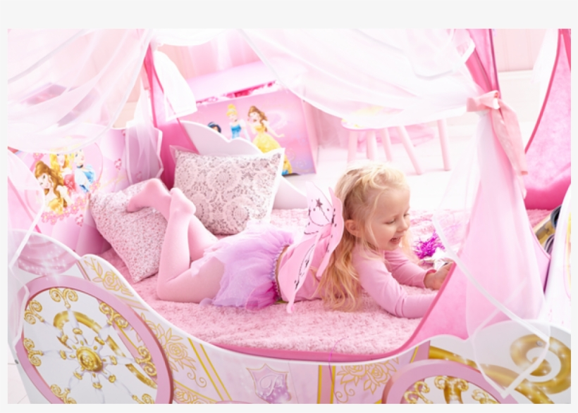 Worlds Apart Disney Princess Carriage Toddler Bed - Disney Princess Carriage Bed, transparent png #1376118