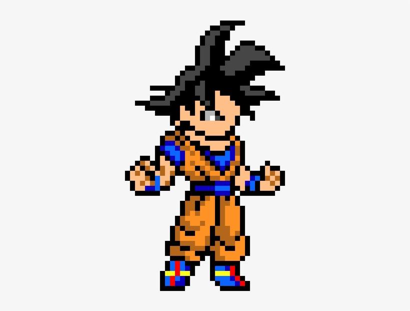 Son Goku Pixel Art Dragon Ball Free Transparent Png