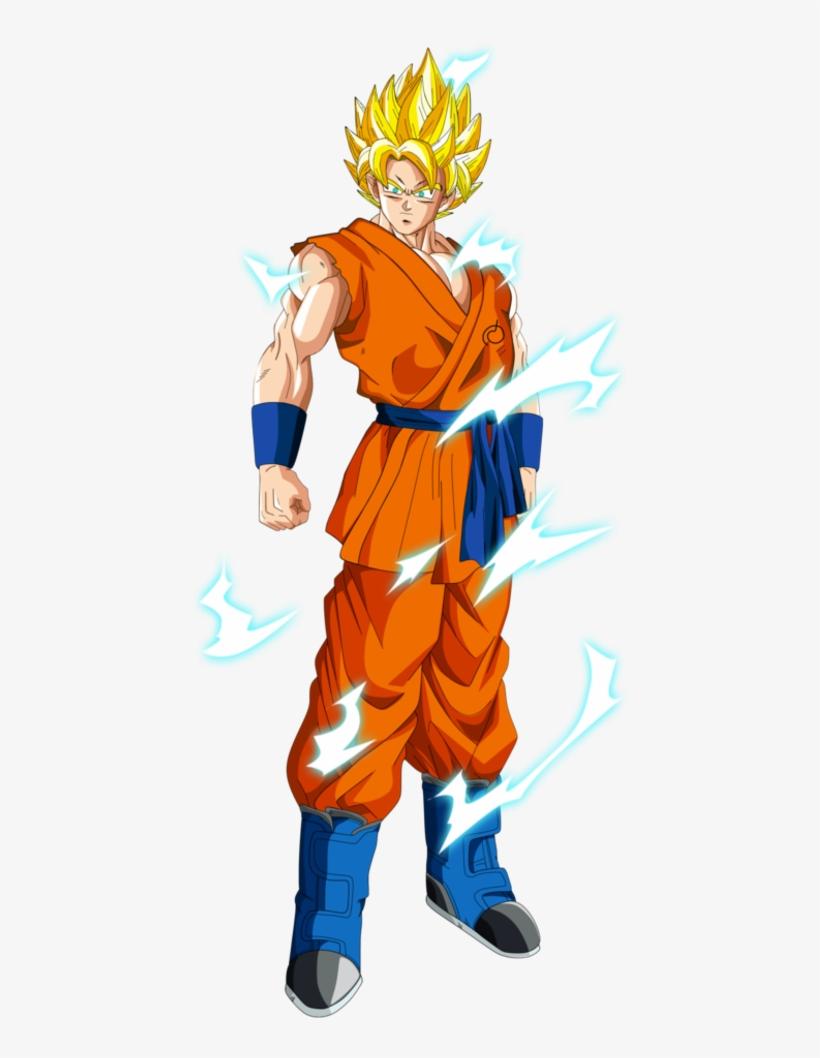 Ssj2 Goku - Dragon Ball Super Son Goku Kakarrot Cosplay Costume, transparent png #1378422