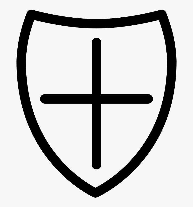 Security Shield Line Cross - Mobile App - Free Transparent PNG