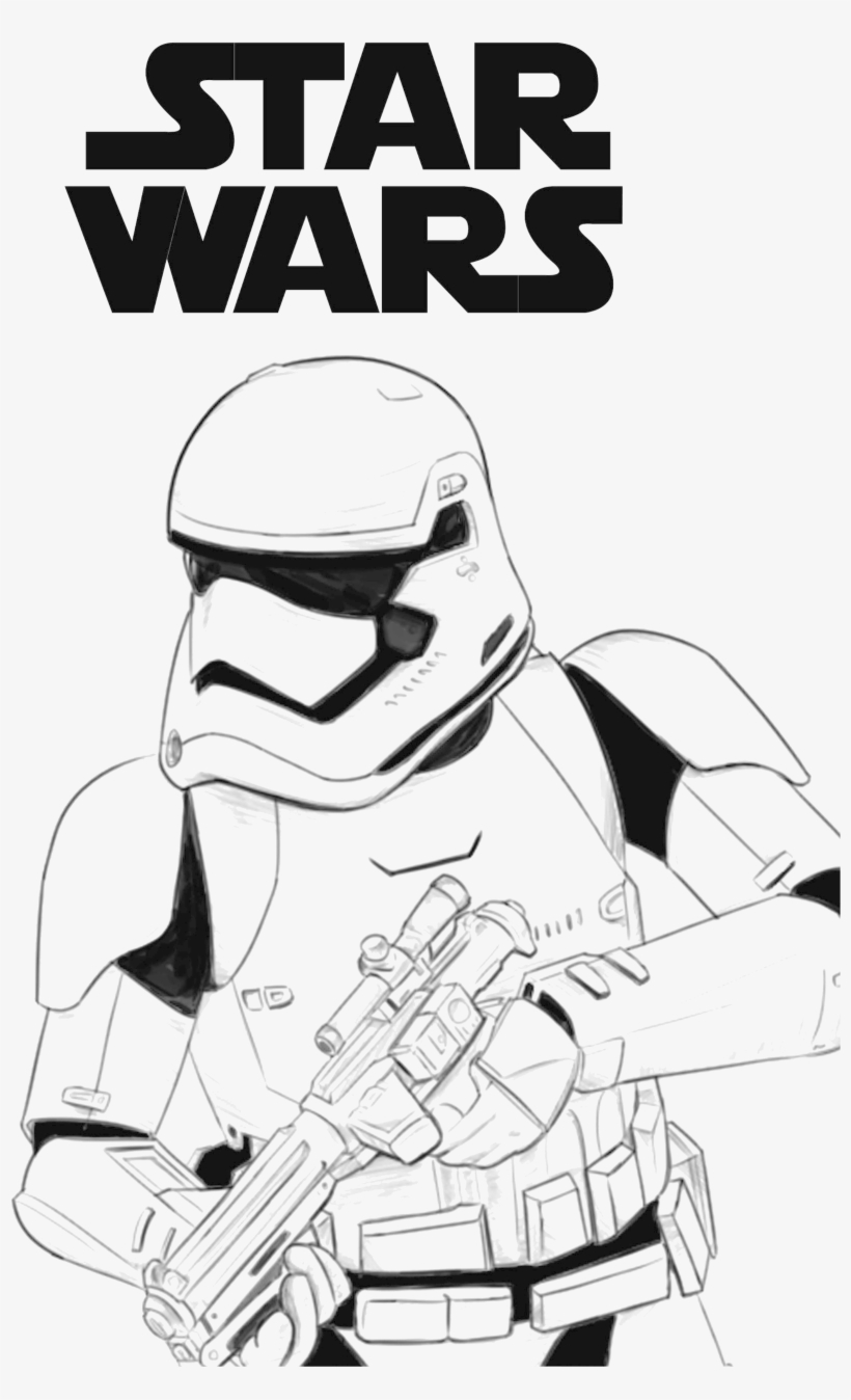 Star Wars First Order Stormtrooper Coloring Page Free