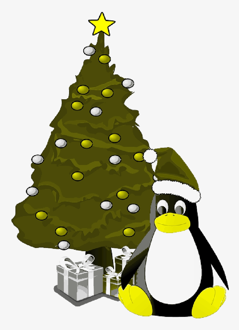 Mb Image/png - Penguin And Christmas Tree Ornament (round), transparent png #1378855