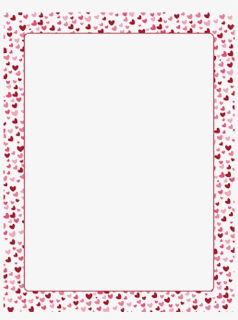Frames Frame Borders Border Heart Hearts Love - Floral Rectangle Frame Png, transparent png #1379880