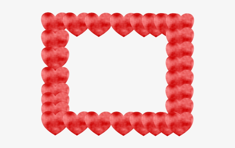 Red Heart Border Png - Picture Frame, transparent png #1379998