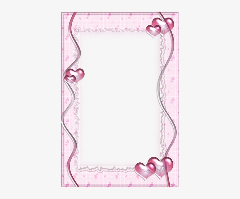 Pink Transparent Frame With Hearts Picture Borders, - Pink Frame Images Transparent, transparent png #1380163