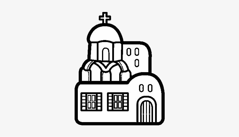 Dibujo De Iglesia Para Colorear - Iglesia Para Dibujar, transparent png #1380191