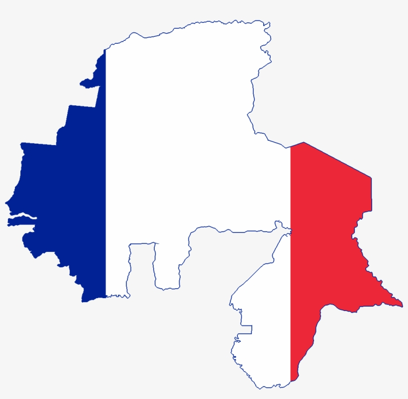 French Africa Map.Flag Map Of French West Africa And North Africa Flag Map Of West