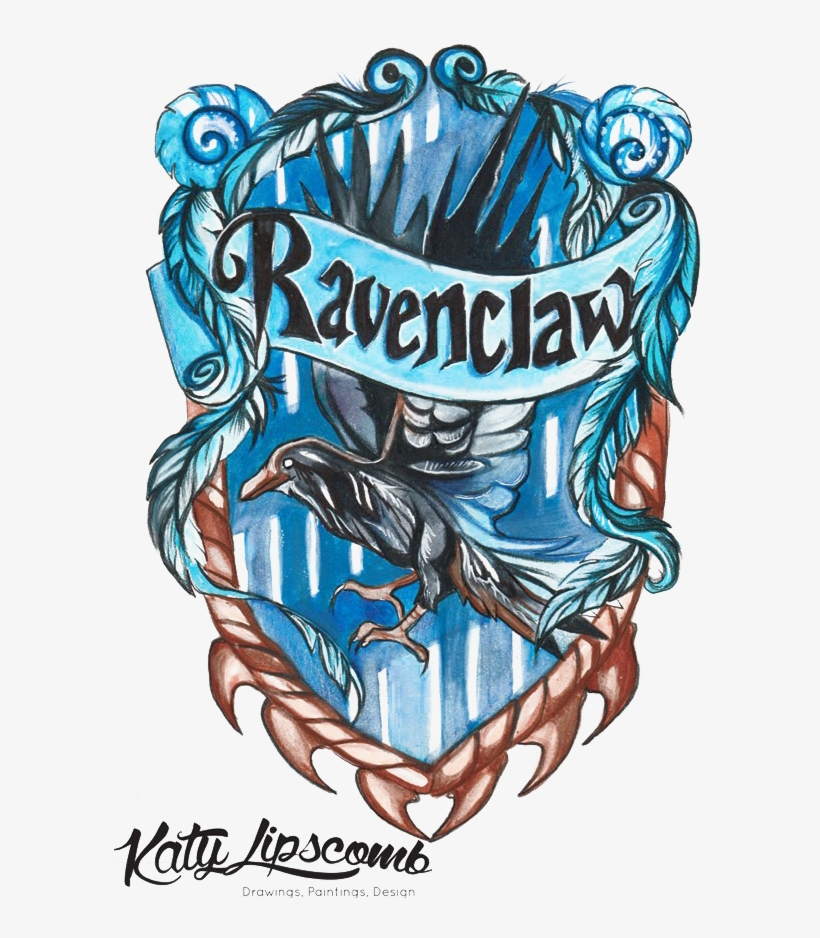 Ravenclaw Png Hd Quality - Harry Potter House Drawings, transparent png #1388176