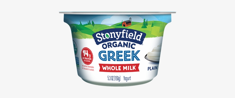 Whole Milk Greek Plain - Stonyfield Organic Greek Yogurt 5.3 Oz, transparent png #1388982