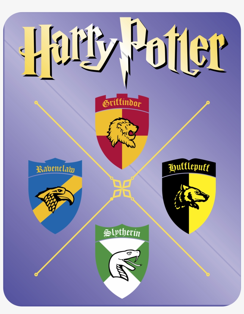Griffindor Ravenclaw Slytherin Hufflepuff Logo Png - Harry Potter And The Sorcerers Stone Book 1 Large Print, transparent png #1389119