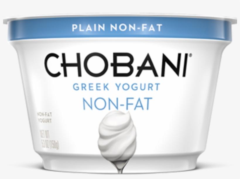 1705w- Chobani Plain Greek Yogurt - Chobani Greek Yogurt, transparent png #1389314