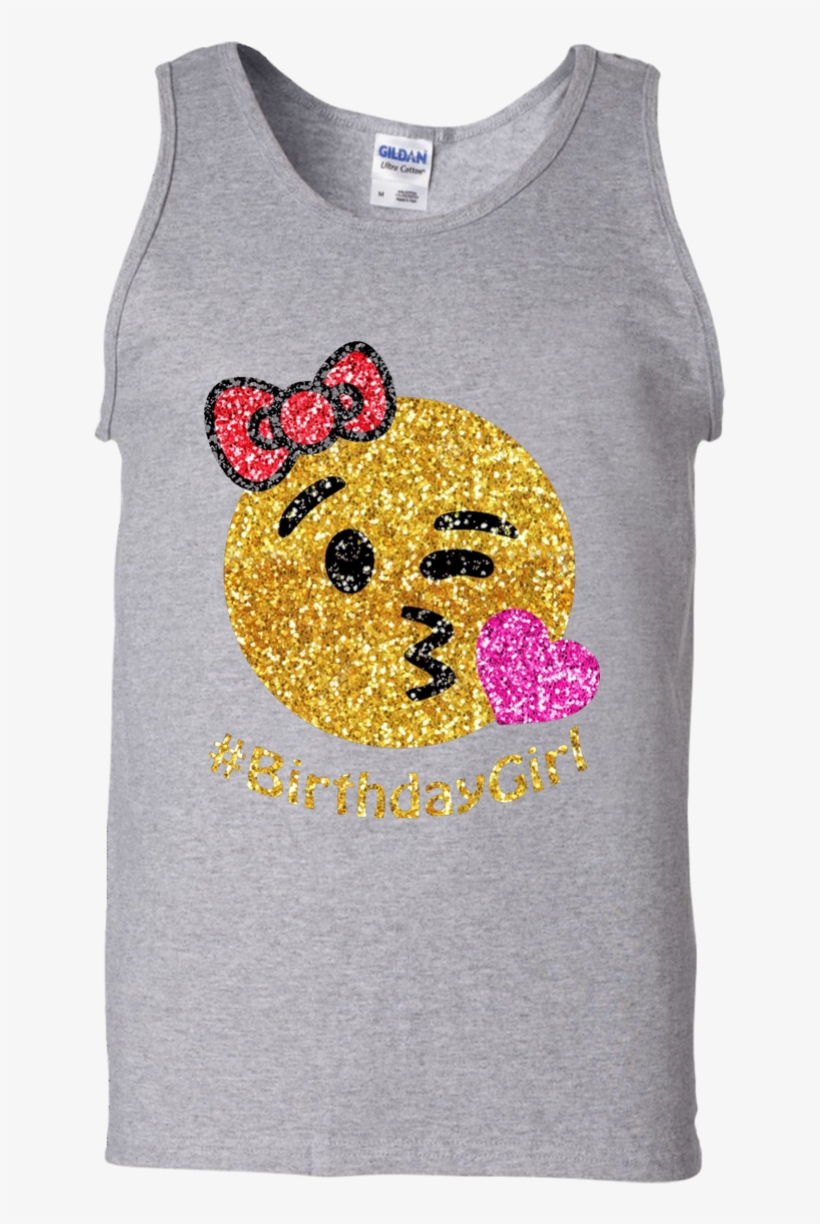 Birthday Emoji Shirt For Girls 100 Cotton Tank Top