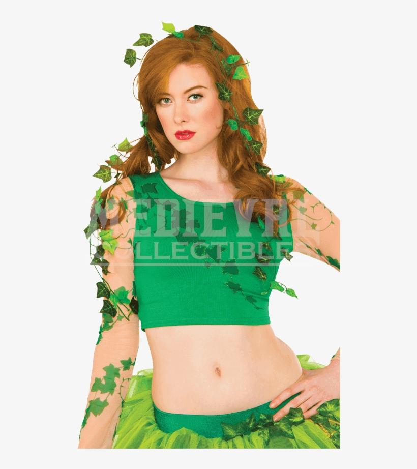 Adult Poison Ivy Leaf Kit - Women's Poison Ivy Leaves Vine - Green For Halloween, transparent png #1390209