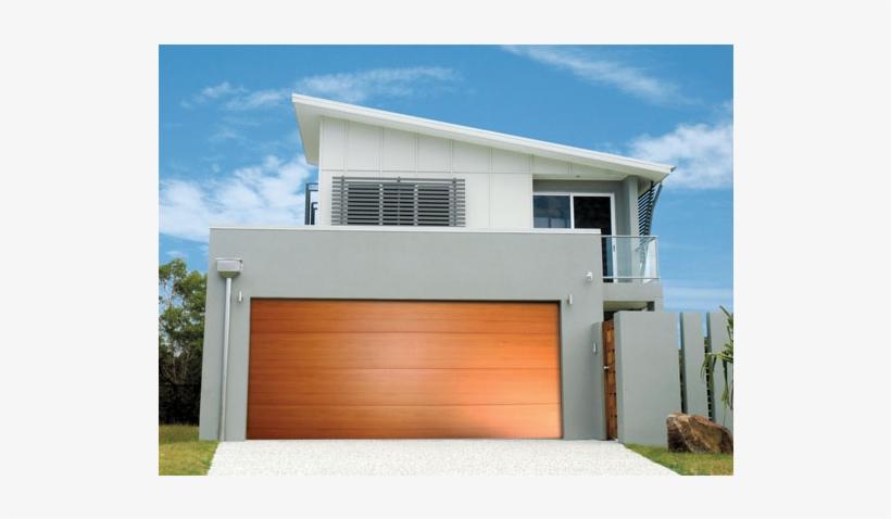 Door Garage Steel Line Panel Lift Flat Line - Garage Door Designs Australia, transparent png #1393821